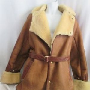 SHEARLINGS BY RAFEL SUEDE Leather Sheepskin jacket
